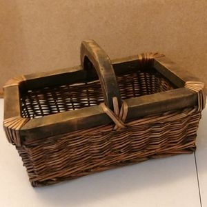 Other - Chunky wood woven straw basket